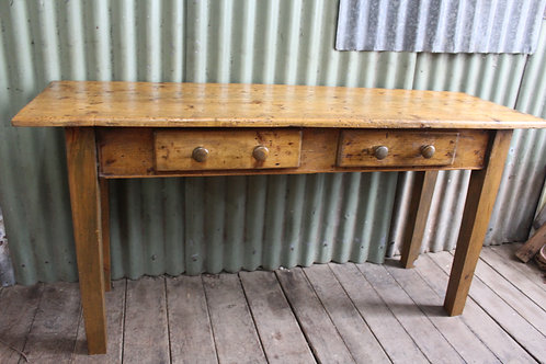 A Rustic Country Cottage Distressed Vintage Hall Way Console Table or Desk 1.5m