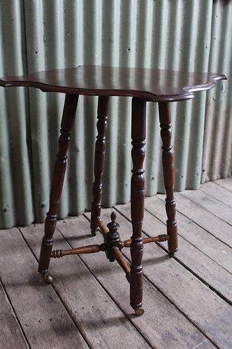 A Vintage Cedar Occasional Table on Castors - 65cm high - Hall Table