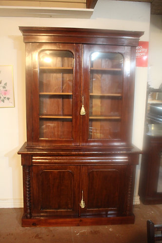 A Victorian Cedar Glazed Bookcase with Barley Twist *FREE DELIVERY T&C's Apply
