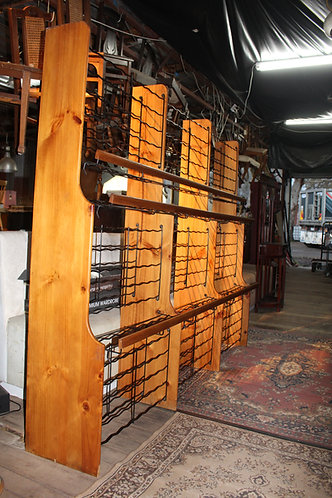A Massive Vintage Timber & Iron Wine Rack Will Suit Bar, Wine Shop or Restaurant