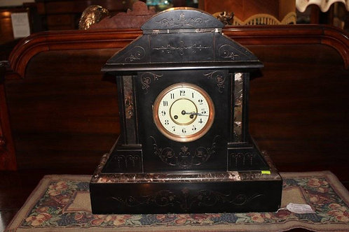 A Victorian French Mantle Clock c.1880's - Overhauled with 3 Month Warranty