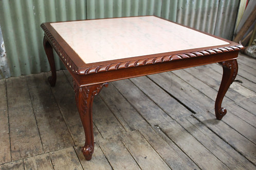 A Large Vintage French Marble Top Coffee Table