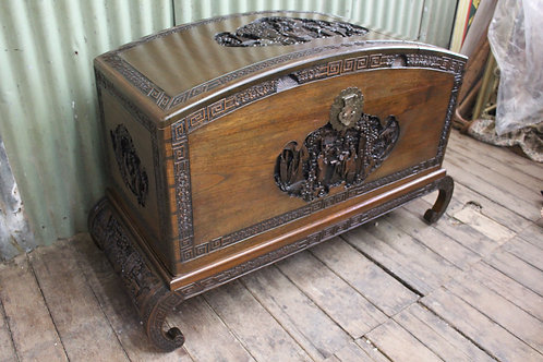 A Large Chinese Camphor Wood Chest Trunk 1.27m