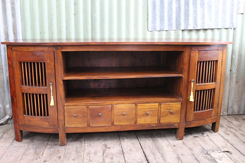A Rustic Balinese 1.8m Entertaiment Unit - TV Stand