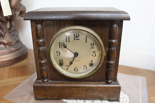 An American Sessions Oak Mantle Clock with 12 Month Warranty*