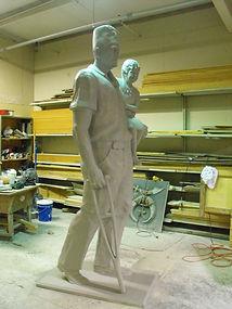 Fiberglass cast statue