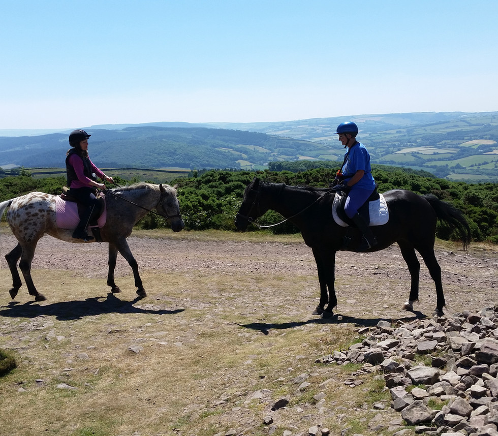 Selworth Beacon and views across Exmoor and Dartmoor