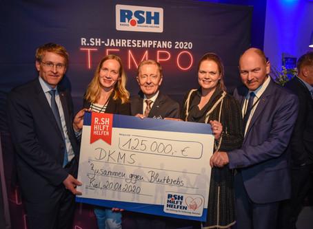 125.000 € von der R.SH hilft helfen-Stiftung an die DKMS und über 1.500 neue Lebenschancen