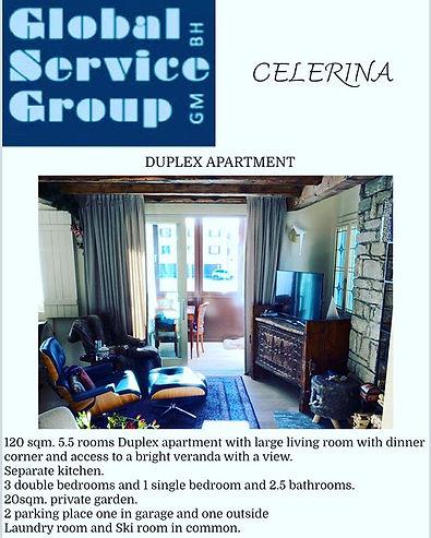 Comfortable Duplex for sale in Celerina.