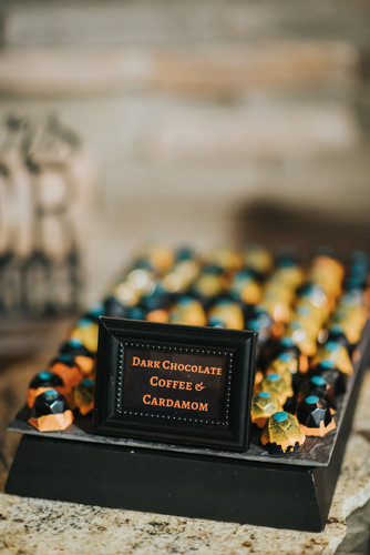 Coffee & cardamom bonbons for wedding event