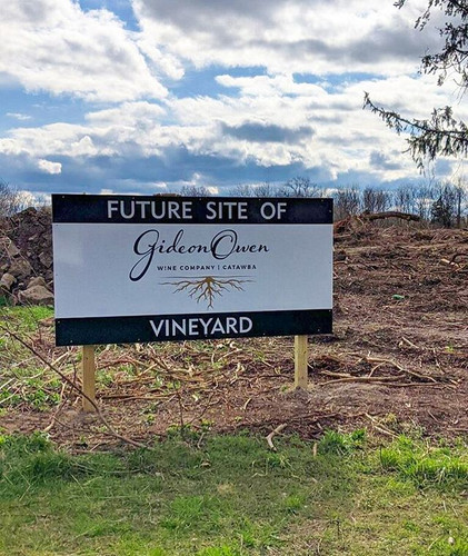 Future site of the Gideon Owen Vineyard