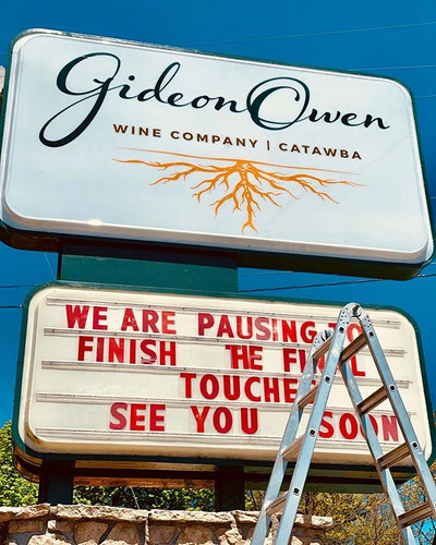 It's official! Our new Gideon Owen Wine