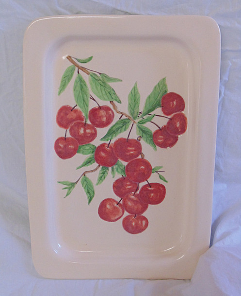 Serving Tray, small, narrow with cherries