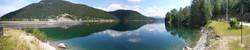 panoramic lake mountain