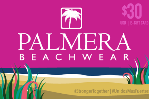 Palmera Beachwear $30 USD Digital Gift Card