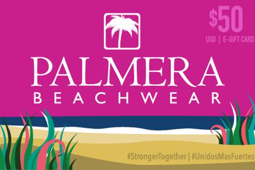 Palmera Beachwear $50 USD Digital Gift Card