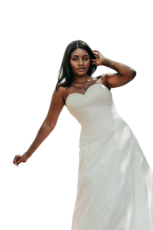 Diana - Romantic Modified A line strapless gown