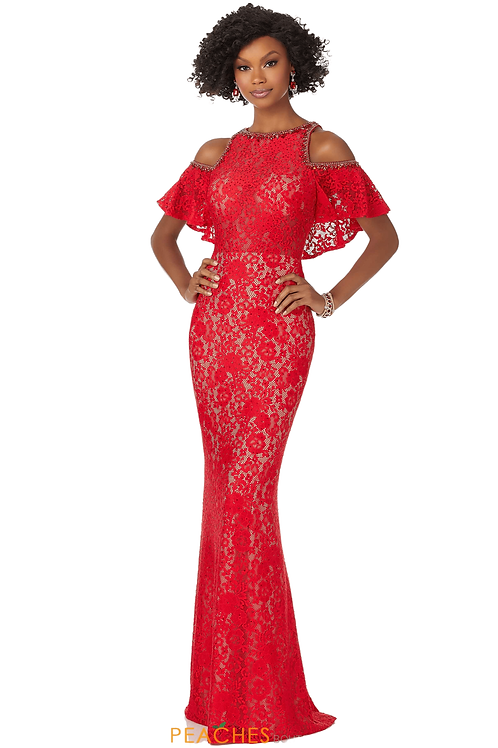 Morilee 42004 Off shoulder lace gown