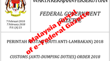 Malaysian Government imposes Anti-Dumping Duties for stainless steel