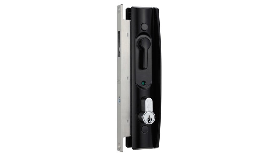 Lockwood 8653 - Sliding Door Lock - No Barrel - Black