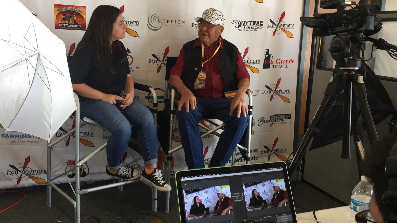 William C'Hair being interviewed