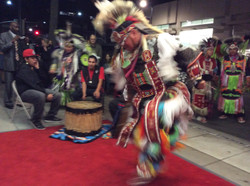 Northern Arapaho dancing at The Red Nation Film Festival