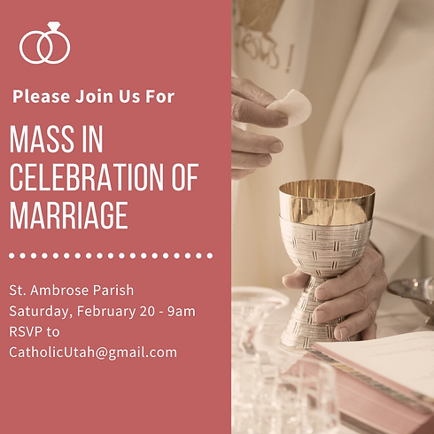 2.20.2021 Mass in Celebration of Marriag