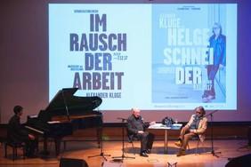mit Helge Schneider und Alexander Kluge im Museum Folkwang 2017
