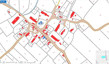 2.  situatie middeleeuwse kerk in 1832. bron CHS Zeeland.JPG
