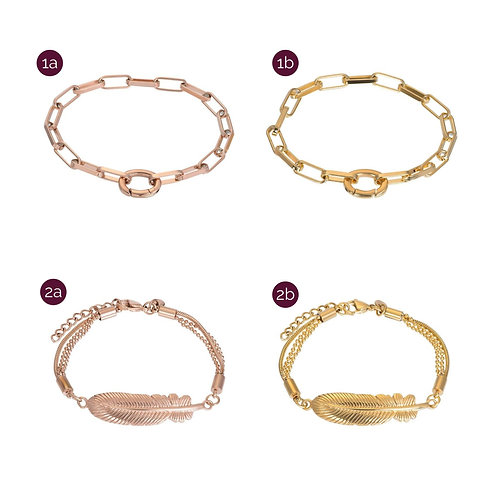 iXXXi armbanden | rose & goud