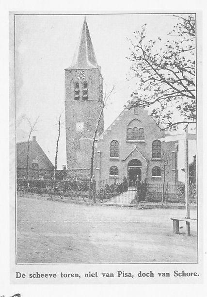 4. nieuwe kerk 1915  tegen oude toren. bron Barth en Moerland 1994.jpg