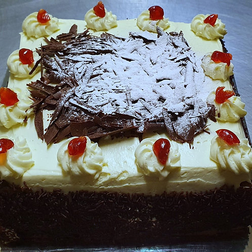 "12"" Square Black Forest Cake"