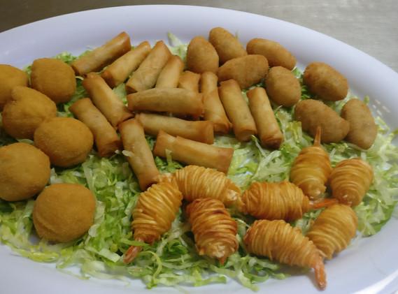 assorted fried savories