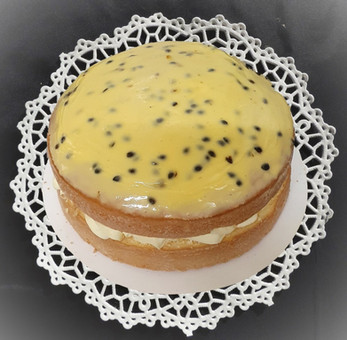 passion-fruit iced cake