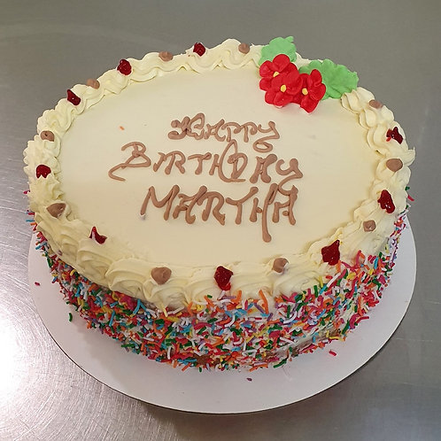 """7"""" Round Birthday Cake"""