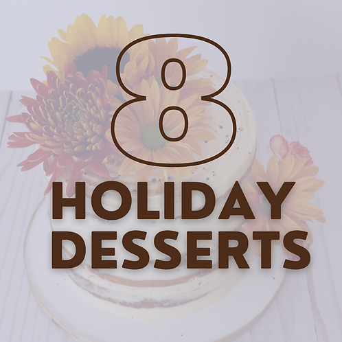 "6"" Cake - 8 Holidays (save $65)"
