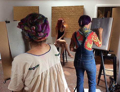 Isis Rodriguez art class San Miguel de A