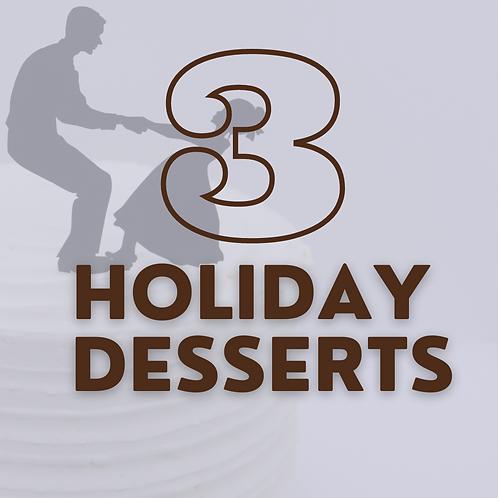 "6"" Cake - 3 Holidays (save $15)"