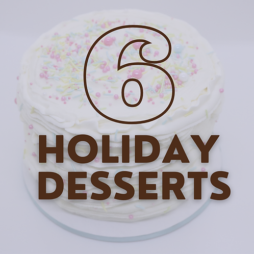 "10"" Cake - 6 Holidays (save $35)"