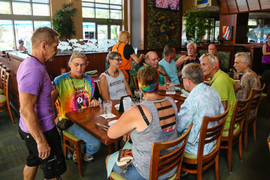 Group dinner before Pride Parade