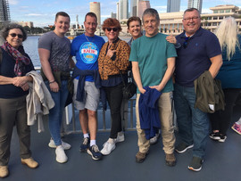 Taking a ferry boat ride to Tampa together