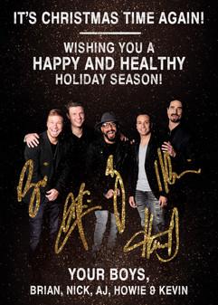 HOLIDAY CARD: Backstreet Boys