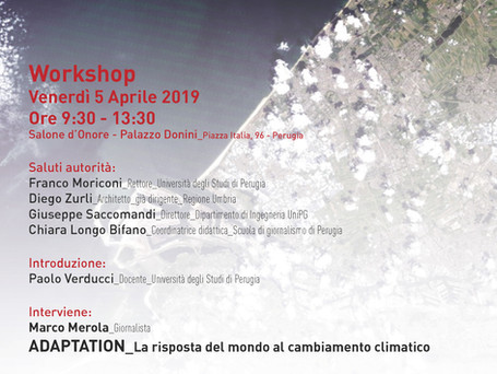 "WORKSHOP ""ADAPTATION""                                                5 aprile 2019 