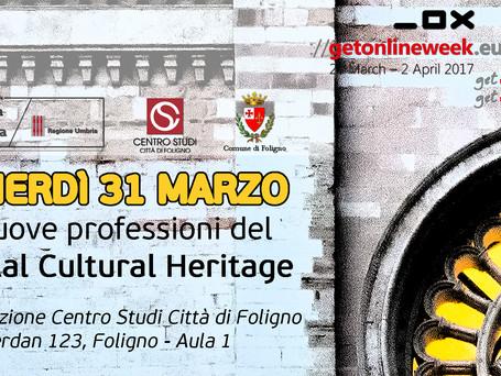 Le nuove professioni del DIGITAL CULTURAL HERITAGE (31 marzo dalle 10.00 alle 13.00 presso il Centro