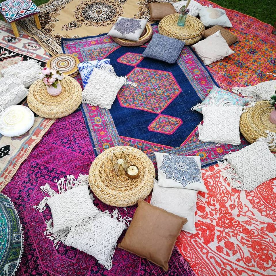 Boho Picnic set up