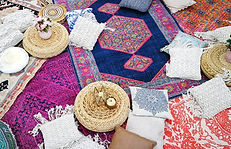 Berry Vintage Boho Party Event hire - rugs & mats