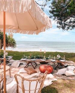 beach setting