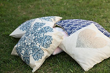 Berry Vintage Party Hire- Cushions ottomans throws