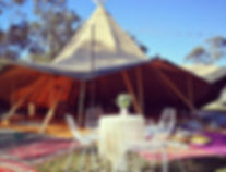 Wedding Tipi teepee hire - berry vintage event hire