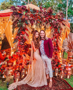 James and Nadia's amazing 'The Golden Age' party